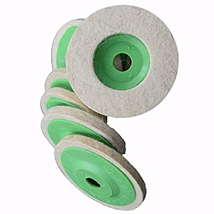 Atoplee 10pcs 4 100mm Wool Polishing Buffing Wheel Pad Bore Dia