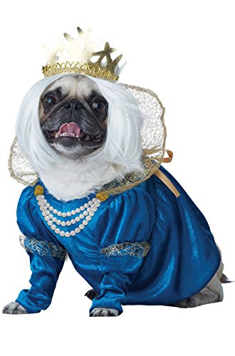[Mememall Fashion Renaissance Queen of Bones Dog Pet Costume] (Blue Monarch Butterfly Costume)