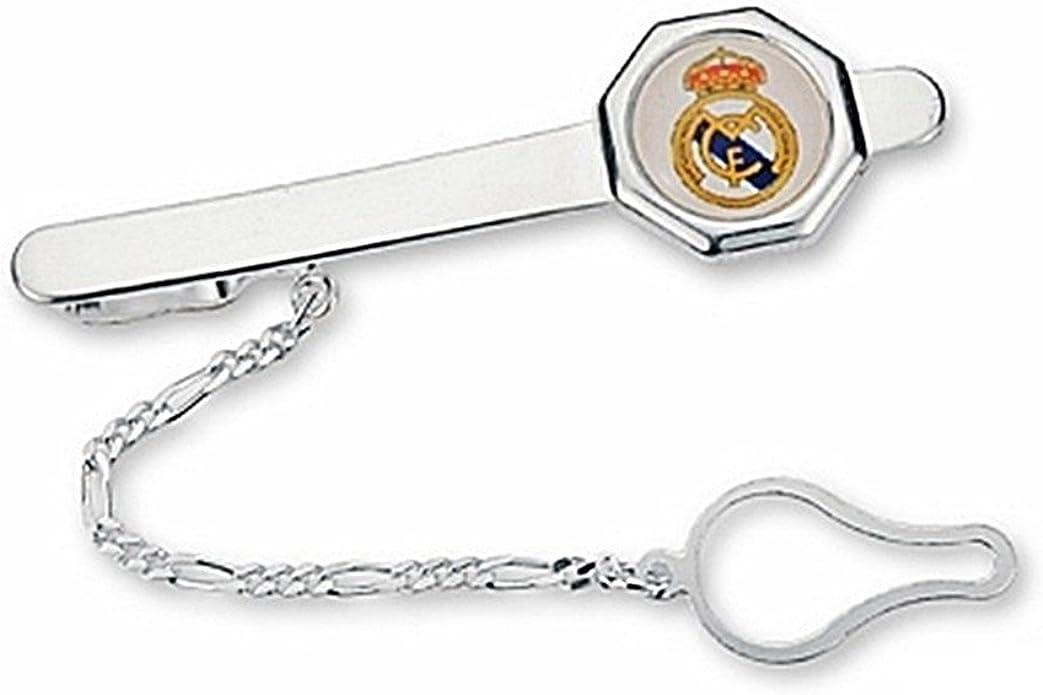 Pisacorbatas escudo Real Madrid Plata de ley octógono [6836] - Modelo: 30-069: Amazon.es: Joyería