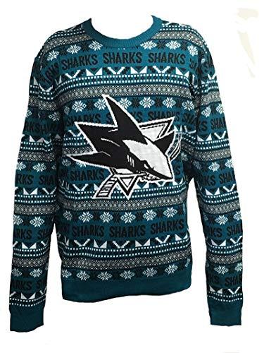 FOCO SAN Jose Sharks 2016 Aztec Print Ugly Crew Neck Sweater - Mens Extra Large (Sweater San Jose Sharks)
