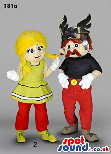 Obelix Costume (Asterix And Obelix Cartoon Character SPOTSOUND US Mascot Costumes With Red Pants)