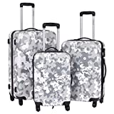 3 Pcs Luggage Set | Lightweight Hard Shell ABS+PC Travel Bag Trolley Suitcase w/ Wheels Coded Lock