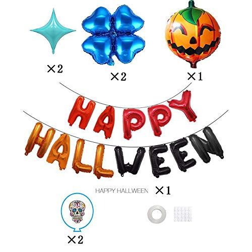 Sizet Happy Halloween Banner Aluminium Film Balloons Pumpkin Halloween Party Decorations