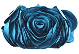 Bywen Womens Rose Pattern Purse Party Clutch Shoulder Bags Blue