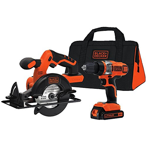 Black and Decker 20V MAX Lithium Drill and Circular Saw Kit,
