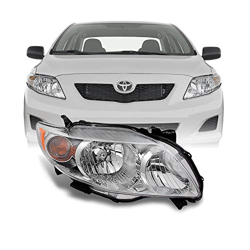 For Toyota Corolla Base | LE | XLE Chrome Passenger Right Side Front Headlight Head Lamp Replacement