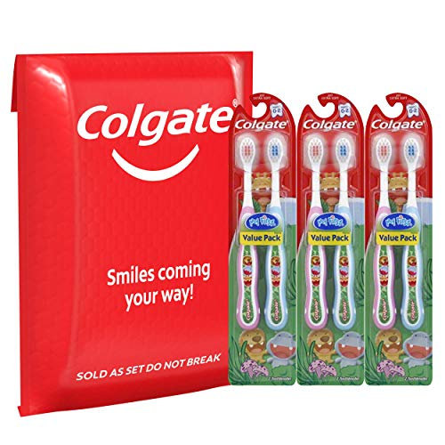 51Gzf0G%2B7PL - Colgate My First Baby And Toddler Toothbrush, Extra Soft (6 Count)