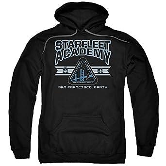Star Command Trek Distintivo Felpa Con Cappuccio (scuro) HSRXs