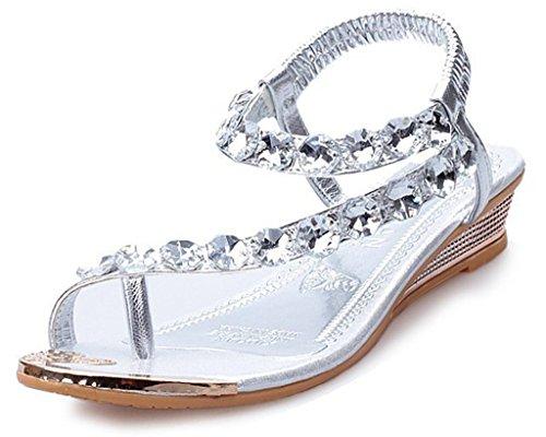 Maybest Strappy Rhinestones Gladiator Sandals product image