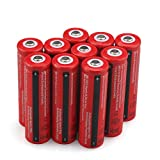 10PCS BRC Li-ion lithium 18650 Battery 4000mAh 3.7V Rechargeable Batteries - USA FAST SHIPPING
