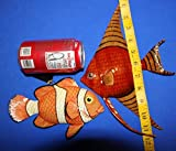 Salty Pelican Under The Sea Girls Bathroom Wall Decor, Moisture Resistant 3-D Poly-resin 8 inch Fish Bundle of 2 ITems