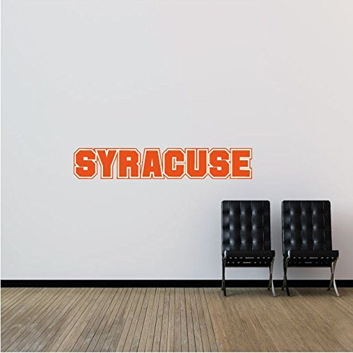 Syracuse Orangemen NCAA USA Slogan Logo College Sport Set of 2 Art Wall Decor Sticker 25