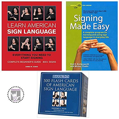 Learn American Sign Language Plus Signing Made Easy and Barron's 500 Flash Cards of ASL Kit (Sign Language Tools)