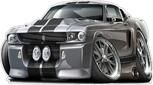 """1967 Ford Mustang Shelby GT500 Eleanor Large 22"""" x48"""" (4f..."""