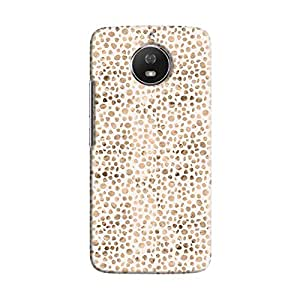 Cover It Up - Brown White Pebbles Mosaic Moto G5s Hard Case