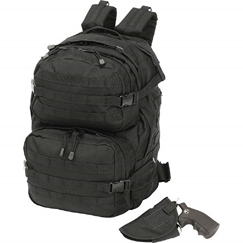 Extreme Pak™ Black Backpack with Concealed Handgun Holster by BF001