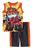 Nickelodeon Little Boys' Tank Top Short Set (Blaze/Orange, 4T)