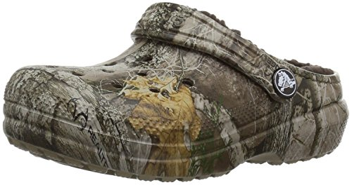 - Crocs Unisex Classic Realtree Edge Lined Clog , khaki , C10 M US Toddler