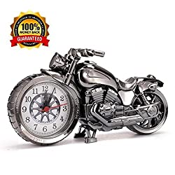 Clock'S Vintage Motorcycle Alarm Clock Shape Exquisite Motorbike Sporting Alarm Clock Creative Retro Gifts Upscale Furnishings Boutique Home Decorator