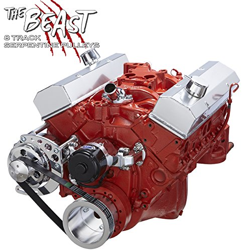 Chevy Small Bock Serpentine Conversion - Alternator Only Applications, Electric Water Pump Chevy Alternator Conversion