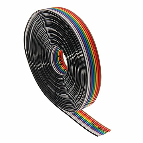Pukido 5 Meters/Lot 10 Way 10 Pin Flat Color Rainbow Ribbon Rainbow Cable Wire 1.27mm Pitch by Pukido