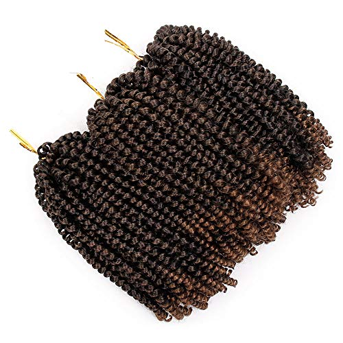 Beauty : Aisibeauty 3 Pack Spring Twist Mixed Brown Crochet Braids Synthetic Braiding Hair Extensions Low Temperature Fiber (T1B 30)