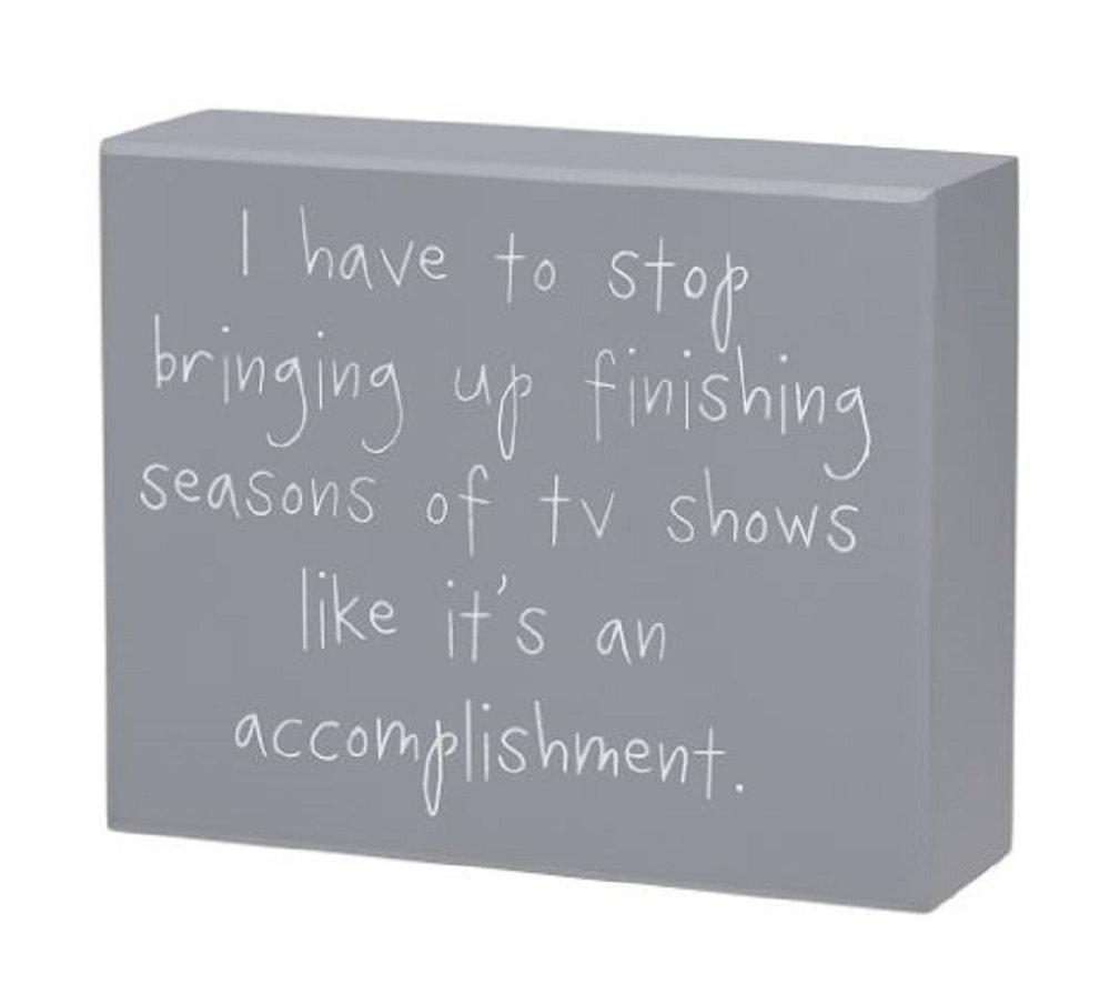 TV Shows Box Sign 5 W x 4 T x 1 1//2 D.