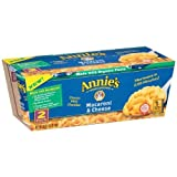 Annies Homegrown Organic Classic Mild Cheddar Microwavable Mac and Cheese Cup, 4.02 Ounce - 6 per case.