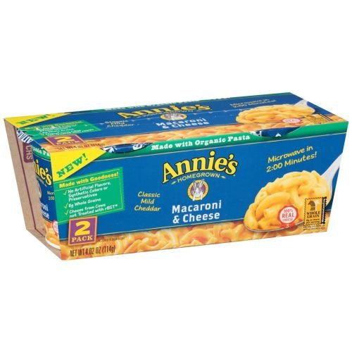 Annies Homegrown Organic Classic Mild Cheddar Microwavable Mac and Cheese Cup, 4.02 Ounce - 6 per case. by Annie's Homegrown