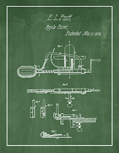 Border Apple Chalkboard - Apple Parer Patent Print Green Chalkboard with Border (18