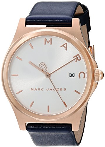 Stainless Steel Blue Leather (Marc by Marc Jacobs Women's 'Henry' Quartz Stainless Steel and Leather Casual Watch, Color:Blue (Model: MJ1609))