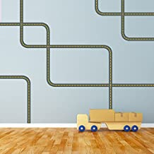 Extra Road Straight and Curved for Trucks Cars Wall Decals ROAD ONLY (Repositionable) Peel and Stick!
