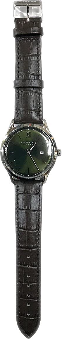 8a4750ce7c Amazon | TOMORA メンズ腕時計 Classic Date T-1605S-SGR グリーン | メンズ腕時計 | 腕時計 通販
