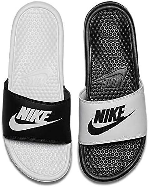 6922e83611d Nike Mens Benassi JDI Mismatch Slide Sandals Black White 8 D(M) US