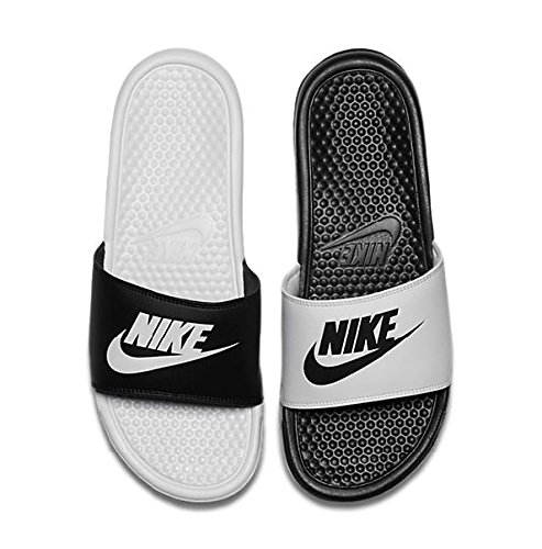 f25e84215f6a Galleon - Nike Mens Benassi JDI Mismatch Slide Sandals Black White 10 D(M)  US