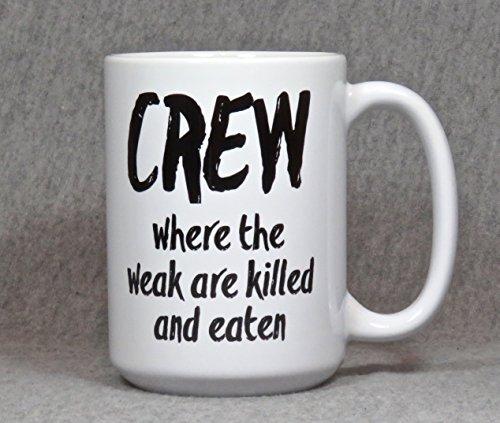 rowing mug, 15 ounce ceramic coffee mug for crew rower, rowing coach, rowing mom or dad -