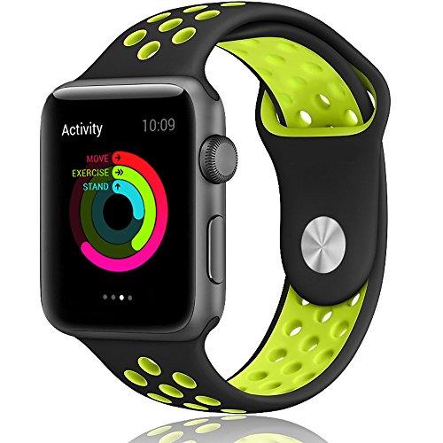 Apple Watch Band, LOHG 42mm Soft Silicone Brace...