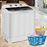 Great for Cloths, Briefs, Underwear, and Other 17.6LBS Portable Washing Machine Mini Compact Twin Tub Laundry Washer Spin Dryer