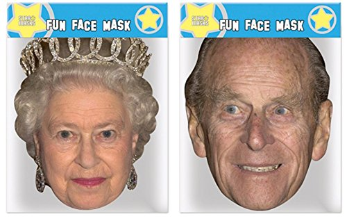 The Queen & Prince Philip - Twin Pack - Celebrity Face -