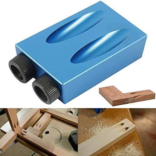 WEI-LUONG Screw 15Pcs 15 degree Woodworking Guide Positioner Kit Oblique Hole Locator Positioner Drilling Bits Jig Clamp Woodworking Kit Drill