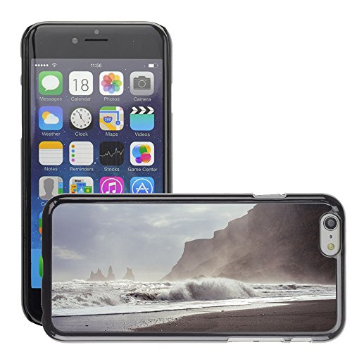 Just Phone Cases Hard plastica indietro Case Custodie Cover pelle protettiva Per // M00421740 Vagues de surf Shore Ocean Sea Beach // Apple iPhone 6 6S 6G PLUS 5.5""
