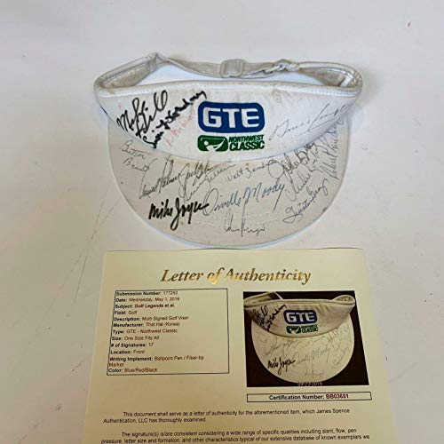 Arnold Palmer Gary Player PGA Golf Greats Signed Hat Visor With COA - JSA Certified - Autographed Golf Equipment
