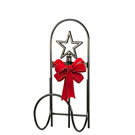 The Relaxed Gardener Wrought Iron Wall Mount Hose Holder Star  Design Handcrafted In The