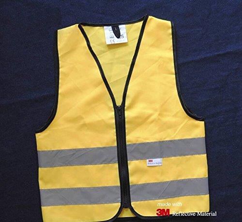 Salzmann High Visibility children reflective vest for outdoor sports, High Viz safety vest for Running, Cycling, Walking, Skating, Skiing, Skateboarding. Adjustable, lightweight, elastic Reflective Belt Vest for children, Kindergarten, Pupils, -