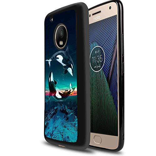 Whale Ying Yang Soft TPU Case Compatible Motorola Moto G6 (2018) 5.7 Inch