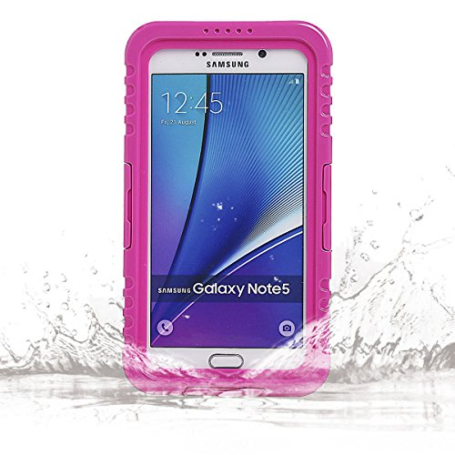 Galaxy Note 5 Waterproof Case, Vcloo 20ft Sealed Galaxy Note 5 Waterproof Case, Dust Proof, Snow Proof, Shock Proof Case, Heavy Duty Protective Carrying Cover Case for Samsung Galaxy Note 5 (M)