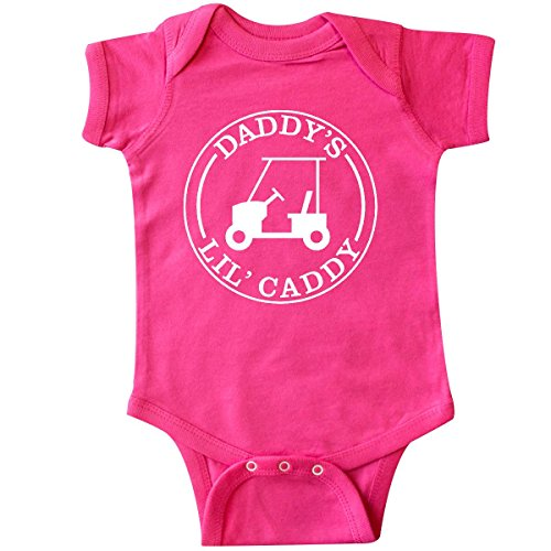 inktastic-unisex-baby-daddys-lil-caddy-infant-creeper-6-months-hot-pink
