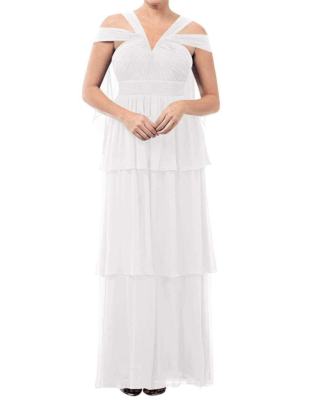 Ivory Mother of The Bride Dresses VNeck Long Mother of Groom Dress Plus Size Evening Gowns