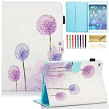 iPad mini 4 Case Cover, Dteck(TM) Ultra Slim PU Leather Stand Smart Cover with [Auto Sleep/Wake Feature] [Corner Protection] Protective Case for Apple iPad mini 4 (2015 Release), Purple Dandelion