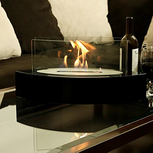 Sunnydaze Barco Ventless Tabletop Bio Ethanol Fireplace, Black by Sunnydaze Decor (Image #1)